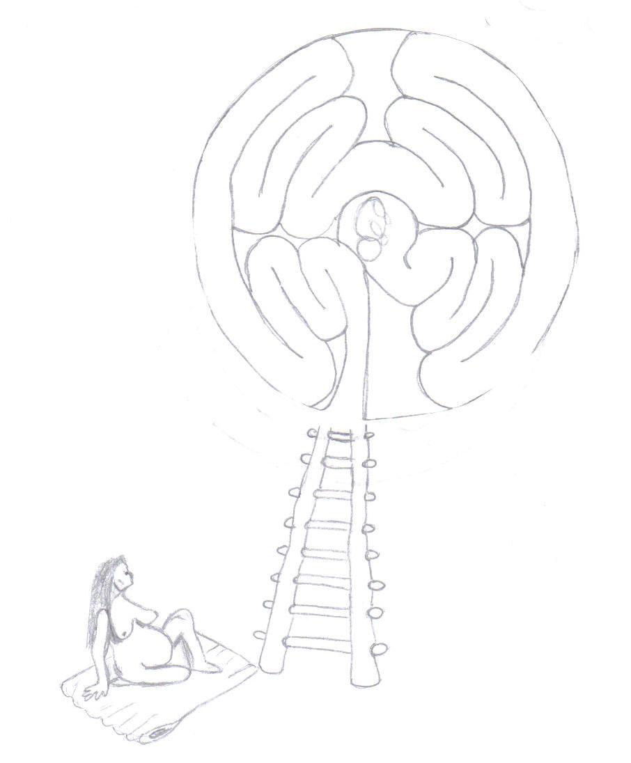 kiva woman with womb labyrinth