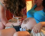 Henna on friend's belly at her blessingway ceremony.