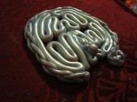 Polymer clay labyrinth, plus goddess sculpture