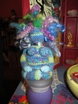 Awesome crocheted birth goddess by my mom.