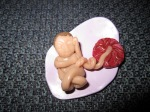 Baby and placenta by another friend as a blessingway gift.