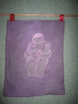 Batik Goddess of Willendorf by another friend as a blessingway gift.