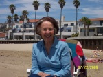 On Pismo Beach---don't all 80 year olds hang out on the beach looking this composed?!