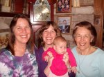 Four generations--while not the greatest picture, I really love our matching smiles in this one! Genetic legacy, much?!