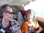 Adventuresome spirit in the air above the Central Coast in CA with Lann (and my pilot uncle)
