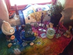 Spring motherhood and healing altar set up for our spring women's retreat.