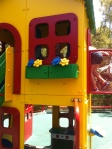 Alaina got uber-crabby right before the Duplo village and stood in this playhouse yelling at me.
