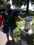I tried to get Mark to hug or smooch R2D2, but alas, he refused.