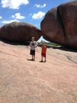 Boys and boulders.