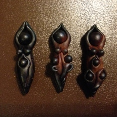 Mama pendant prototypes waiting to be molded and cast.