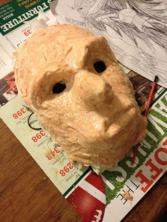 Latex layers being added to mask by Lann/