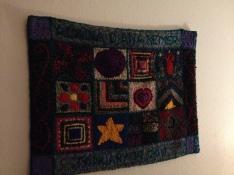 Birth rug on my bedroom's wall.
