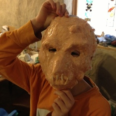 Lann's mask is coming along!