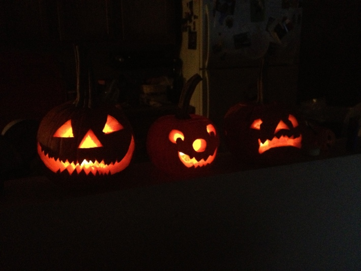 Carved pumpkins!