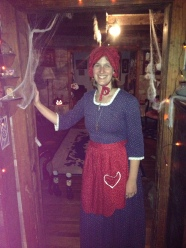 Second Halloween costume--Kirsten from American Girl.