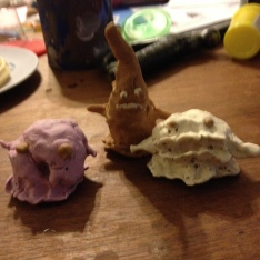 More playdough by Zander! These are ice cream monsters!