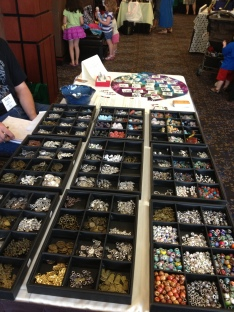 Traveling bead shop section.
