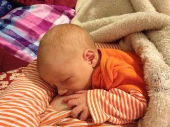 Nursing my little pumpkin.