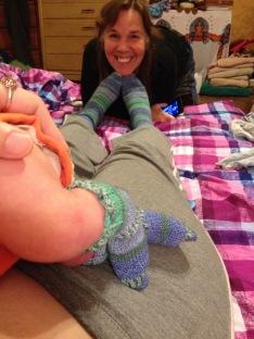 Birth socks!