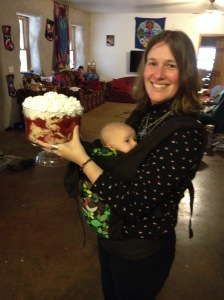 Showing off my Dragonfire trifle on Hobbit Day!