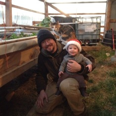 Greenhouse helper for Daddy!