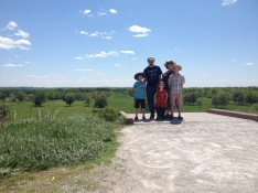 We had a short period of time where we were the ONLY people on the top of Monks Mound and it was really special.