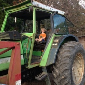 Loves the big tractor